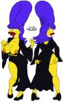 ass big_breasts big_lips breasts clothes female happy hips josemalvado large_ass lips looking_at_viewer marge_simpson milf nipples pussy round_ass slut solo the_simpsons white_background whore wide_hips yellow_skin
