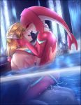 anus anus_juice breath link mipha nintendo nipples nude semen sex the_legend_of_zelda water