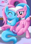 2girls aloe aloe_(mlp) blush dildo dildo_in_vagina equestria_untamed equine friendship_is_magic lotus_(mlp) lotus_blossom masturbation multiple_girls my_little_pony no_humans palcomix pussy tail vaginal vaginal_penetration yuri