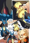 arcanine blush breasts comic lucario lucario's_gift mawile mew oral_sex penis pokemon pokepornlive testicles