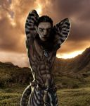 2015 abs anatomically_correct anthro armpits arms_up belt biceps big_muscles big_penis black_lips black_nipples black_nose black_penis blue_eyes brown_fur brown_hair dagi-raht earring feline flaccid fur furry hair half-dressed humanoid_penis khajiit landscape looking_at_viewer male male_only mammal muscle muscular nature navel necklace nipple_piercing nipples no_humans nude outside pecs pendant penis photoshop piercing pinup pose pubic_hair scar scars skyrim striped_fur stripes tail testicle testicles the_elder_scrolls toned triceps vein veiny_penis video_games