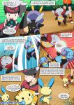 brendan comic illumise may minun plusle pokemon pokemon_rse pokepornlive secret_bases tagme volbeat