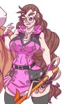 big_breasts braided_hair cosplay glasses kairi kingdom_hearts megan n647 n647_(artist) original_character