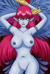 1girl harpie_lady konami nipples nude pussy yu-gi-oh! yuu-gi-ou_duel_monsters