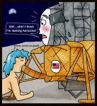 2015 apollo_11 blush fellatio frakkafukkenfractalz human inanimate living_machine lunar_module moon nasa oral penis space spacecraft what