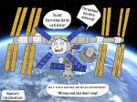 2015 blush earth english_text expedition45 frakkafukkenfractalz hetero inanimate international_space_station iss living_machine no_humans penetration penis probe redraw russian_text sex soyuz space text what