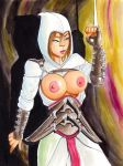 assassin's_creed barry_blair breasts brown_hair nipples weapon