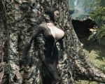 3d ass batman:_arkham_city batman_(series) big_ass big_breasts boots breasts catwoman choker cleavage clothes cosplay fuckable gloves grass mask mod most_body mushroom outdoors outside selina_kyle skin_tight_suit skyrim the_elder_scrolls tree trees