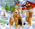 1girl 2015 anthro antlers ass bell big_breasts black_penis blush breasts brown_fur cervine christmas clothed clothing cuckold deer dickgirl dickgirl/female english_text erection fellatio fur furry girly group hair hat headgear highres holidays hooves horn house human human_on_anthro imminent_sex intersex intersex/female interspecies larger_intersex male male/female mammal nipples nude open_mouth oral outside penis pipe pussy reindeer rudolph santa_claus sex size_difference skimpy slashysmiley slashysmiley_(artist) sleigh smaller_female smaller_male smile smoke smoking snow testicles text tongue tongue_out