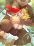 1boy 1girl anus ape areolae ass barefoot bestiality blonde_hair blue_eyes blush boris_(noborhys) breasts brown_fur censored crown cum cum_in_pussy donkey_kong donkey_kong_(series) elbow_gloves footwear furry gloves hair held_up high_heels huge_ass human jungle large_breasts legwear long_hair looking_back male/female mario_(series) mario_bros monkey neck_tie necktie nintendo nipples nude one_eye_closed open_mouth orgasm outside penis princess_peach sex shoe_dangle size_difference soles super_mario_bros. testicles thighhighs toes trees vaginal vine vines white_gloves white_legwear wince