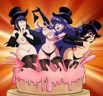 big_breasts big_hero_6 breasts cake crossover food gogo_tomago grimphantom grimphantom_(artist) hinata_hyuuga naruto nipples nude pussy ranma_1/2 shampoo_(character) shampoo_(ranma_1/2) surprised topless undressing