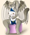 1girl 1girl 2015 anthro avian batman_(series) big_breasts bird breasts cat clothed clothing clothing_lift color_edit colored distracting edit feline fur furry game_controller grey_fur high_res hybrid looking_up mammal microsoft mouth_hold nighter3d nipples owl presenting presenting_breasts shirt shirt_lift simple_background sitting skidd smile spread_legs spreading story story_in_description video_games willow_adela wings xbox