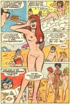 archie archie_comics ass beach breasts comic long_hair nipples nude outdoor pubic_hair pussy volleyball