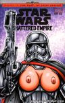 breasts captain_phasma comic_cover garrett_blair garrett_blair_(artist) nipples star_wars weapon