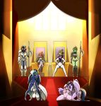 2015 6+girls anthro areola armor ass aura_spark blush breasts chair crown da3rd detailed_background equine fan_character friendship_is_magic furry group high_res horn horse inside kneeling large_breasts long_hair looking_at_viewer mammal masturbation melee_weapon multicolored_hair my_little_pony navel nipples nude penetration polearm pony princess_cadance princess_celestia princess_luna pussy sex sitting smile spear standing throne twilight_sparkle unicorn vaginal vaginal_penetration weapon winged_unicorn wings yuri