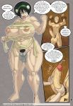 aang avatar:_the_last_airbender big_breasts bondage breasts lurkergg lurkergg_(artist) melon_lord_(comic) nipples nude pussy pussy_juice toph_bei_fong