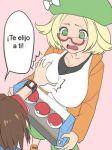bel_(pokemon) bianca bianca_(pokemon) breasts breasts_grab glasses poke_ball pokemon pokemon_(game) pokemon_bw2 shocked surprised