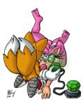 amy_rose anthro furry miles_tails_prower omegazuel sonic_the_hedgehog_(series) tagme tech_control traditional