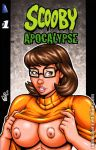 breasts brown_eyes freckles garrett_blair garrett_blair_(artist) glasses nipples scooby-doo velma_dinkley
