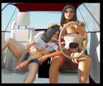 car car_interior cum daughter fellatio futanari incest intersex milf mother_and_daughter oral penis pussy riohentaiden short sit