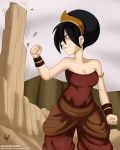 alcasar-reich alcasar-reich_(artist) angry avatar:_the_last_airbender big_breasts breasts cleavage toph_bei_fong
