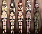 5_girls absurd_res ball_gag bondage kuroihoshi_(artist) x-men