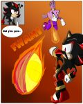 1girl anthro black_fur blaze_the_cat breasts cat clothed clothing comic dialogue duo english_text feline fur furry gloves hedgehog male mammal nude purple_fur sandunky sega shadow_the_hedgehog simple_background sport text video_games volleyball yellow_eyes