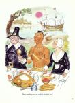 1girl blond boy cartoon indian pilgrim ship turkey water