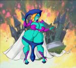 angeldx big_breasts breasts cleavage oracle_of_ages pussy smile the_legend_of_zelda veran