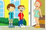american_dad breasts crossover erect_nipples family_guy hand_on_hip lois_griffin see-through shaved_pussy steve_smith thighs