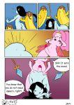 1girl adventure_time ass cartoon_network comic futanari marceline nude penis princess_bubblegum