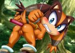 1girl mobius_unleashed nude palcomix sex_toy sticks_the_jungle_badger