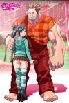 ass big_ass big_penis big_testicles female male muscle penis size_difference tekuho_(artist) testicle_grab testicles vanellope_von_schweetz wreck-it_ralph wreck-it_ralph_(character)
