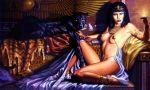 1girl 1girl 1girl black_hair egypt panther short_hair