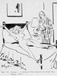 1_guy 1girl bed bondage breasts classic dialogue humor nude