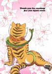 1girl anthro ass back_cover claws comic cover dreamworks duo faceless_female feline female/female flower fur furry kung_fu_panda mammal master_tigress master_viper nude pawpads plant rear_view reptile scalie snake striped_fur stripes text tiger toe_claws zenmigawa