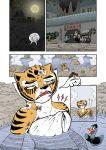 1girl anthro avian bird comic dreamworks duck exhausted feline furry kung_fu_panda mammal master_tigress tiger water wounded zenmigawa