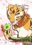 1girl 2_females 2_girls anthro blue_eyes breasts comic cover cover_page dreamworks duo feline female female/female female_anthro female_only flower furry high_res kung_fu_panda looking_at_viewer mammal master_tigress master_viper multiple_girls nipples nude plant reptile scalie snake text tiger yellow_eyes zenmigawa