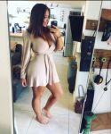1girl big_ass big_breasts breast breasts brown_hair erect_nipples milf mirror phone robe selfie selfpic smartphone