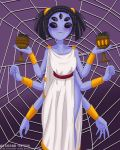 alcasar-reich alcasar-reich_(artist) big_breasts breasts chalice goblet monster_girl muffet multiple_arms multiple_eyes spider_girl spiders undertale