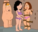 basement bonnie_swanson chris_griffin fall family_guy funny gif guido_l meg_griffin panties rope stretch