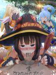 aqua_(konosuba) casino_(casinoep) darkness_(konosuba) fellatio kono_subarashii_sekai_ni_shukufuku_wo! megumin oral witch_hat