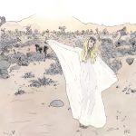 blonde desert ernestventures(artist) non-nude pastels see_through shoes