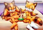 anal anus ass ass_to_ass big_ass big_breasts blush breasts dildo double_dildo marine_the_raccoon mobius_unleashed nude palcomix pussy smile sonic_(series) sonic_boom sonic_rush_adventure sticks_the_jungle_badger yuri