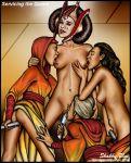 ass breasts dildo dress dress_lift group insertion lesbian padme_amidala pussy shabby_blue star_wars the_phantom_menace yuri