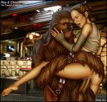 alien ass breasts chewbacca daisy_ridley female_human human interspecies rey sex shabby_blue star_wars the_force_awakens vaginal vaginal_penetration wookiee