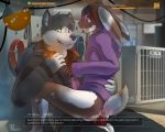 2_anthros 2_boys 2_males anal anal_penetration anthro anthro/anthro anthro_only anus ass ball bottomless cage canine clothed clothing collar cum cum_in_ass cum_inside dog english_text erection furry hoodie lagomorph leash male male/male male_anthro male_only mammal multiple_boys neelix penetration penis rabbit sex sitting sleepylp testicles text the_division tongue tongue_out video_games