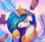 closed_eyes cum cumshot facial friendship_is_magic furry horn licking my_little_pony princess_celestia sucking wings