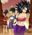 big_breasts breasts cabba caulifla cleavage dragon_ball dragon_ball_super dragon_ball_z female kale male saiyan sonson-sensei_(artist)