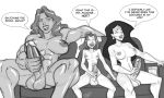 aeolus breasts couch dcau futanari kitty_pryde masturbation nude penis she-hulk smile testicles wonder_woman x-men_evolution